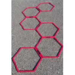 Set 6 esagoni in plastica componibili