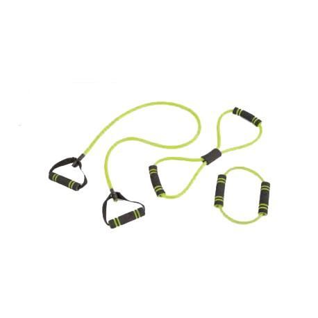 Set 3 elastici tubing con maniglie