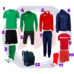 Kit Completo Scuola Calcio INDOOR 12 pezzi