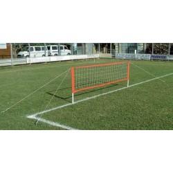 Kit Calcio Tennis pali in PVC completo di rete, tiranti e picchetti