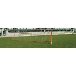 Kit Calcio Tennis pali in PVC completo di rete mt. 10, tiranti e picchetti