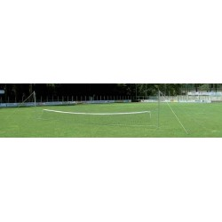 Kit Calcio Tennis pali in alluminio completo di rete mt. 9 regolabile in altezza, utilizzabile solo su terreni naturali