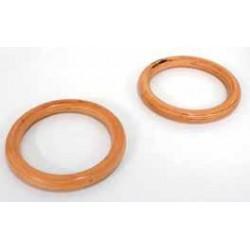 Coppia anelli in legno