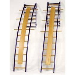 Scale ortopediche dritta con montanti inn acciaio